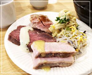 お肉食べ放題、うれしいです!