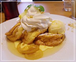 ほろにが感が良かった、「湘南パンケーキ」のレモンカスタードパンケーキ。