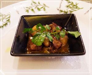 津田沼「Riku Chika」にて。ボリューム控えめだけど味はしっかりのトリッパ煮込み。