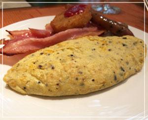 朝食ブッフェ。卵料理のスペシャリテは結局連日トリュフオムレツだったわけですが