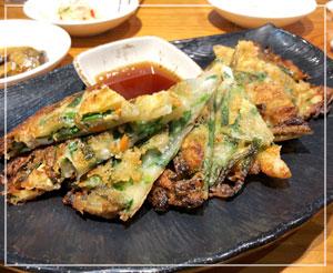 大久保コリアンタウンで韓国料理。チヂミもちゃんと美味しかった♪