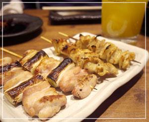 「坊っちゃん」食べ納め。焼き鶏串もたべました。