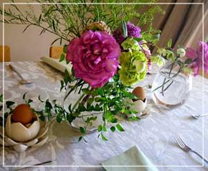 卵と緑、パスクアの食卓で。