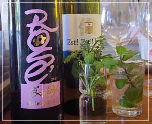 今日のワイン。キュートなデザインが可愛い微発泡ロゼが素敵でした。