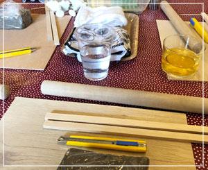 いつも素敵なお花が飾られてる玉緒さんのスタジオが陶芸教室に……!
