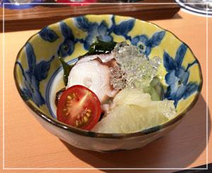 家でも真似できそうな爽やかな酢の物、水蛸と夏野菜の酢の物。