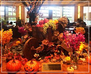 帝国ホテル大阪、ロビーフロアのハロウィン飾り。