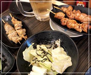 串焼きは1本99円!安くて美味しいです。
