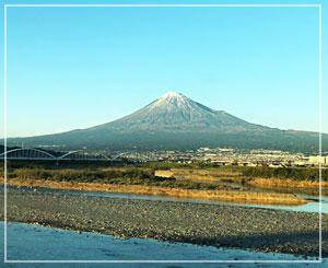 富士山も見えましたよ