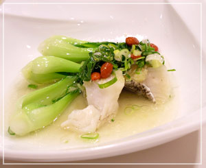 季節料理の、白身魚の生姜蒸し。これが美味しかったー。
