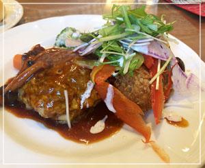 美味しい洋食を、ということで。ハンバーグとコロッケと。