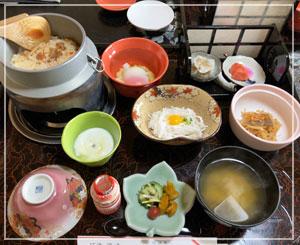朝御飯も素敵でした。全部食べちゃった。