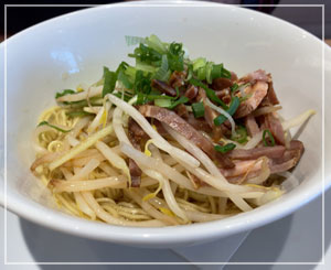 台湾の屋台で食べると150円くらいの和え麺。ああ台湾行きたい。
